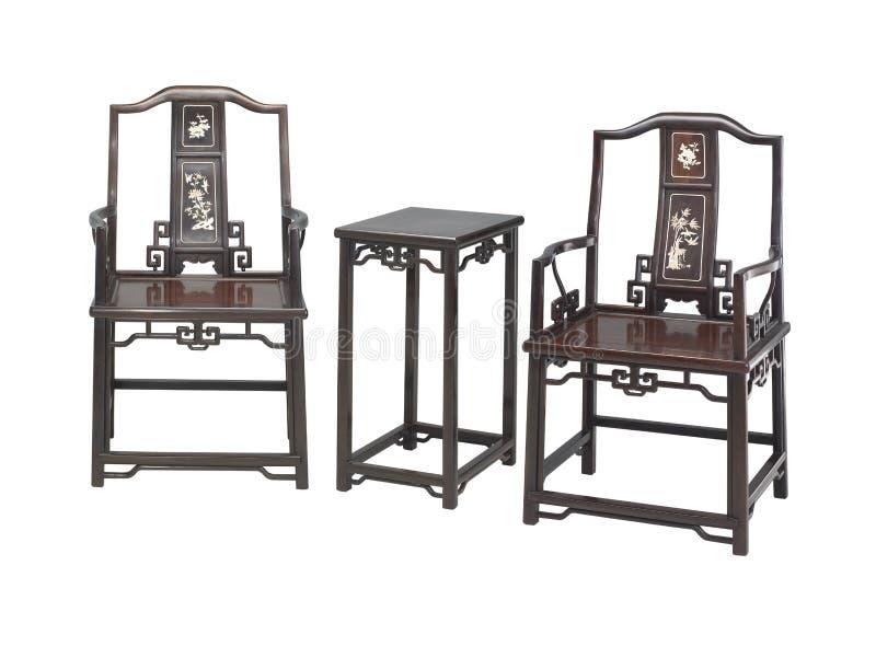 Κινεζικά κλασσικά έπιπλα του ming-ύφους στοκ εικόνα
