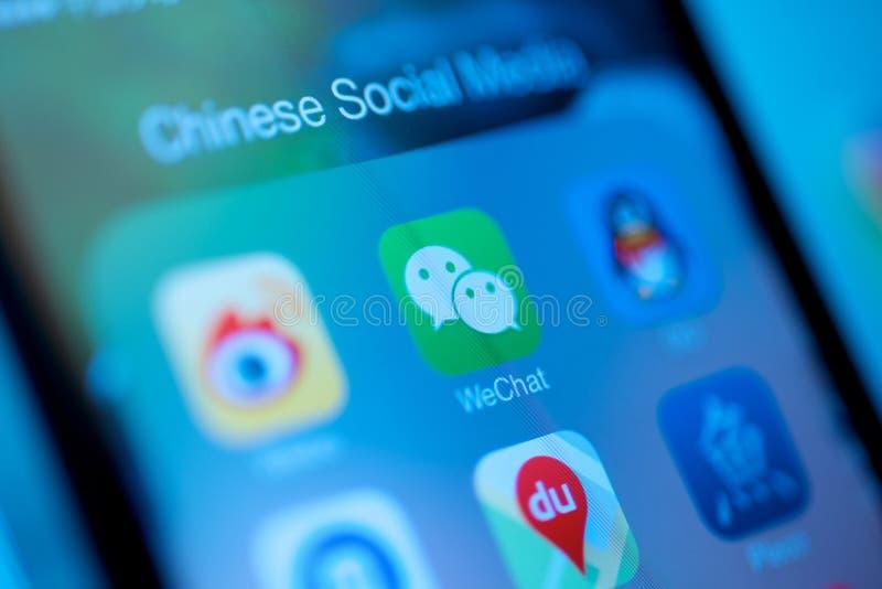 Κινεζικά κοινωνικά μέσα WeChat στοκ εικόνα