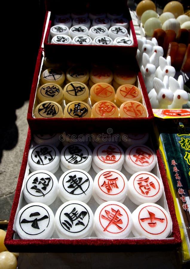 κινεζικά κομμάτια σκακι&omic στοκ εικόνα