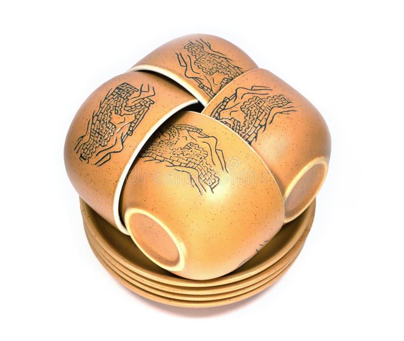 κινεζικά κύπελλα τέσσερ&alp στοκ εικόνα με δικαίωμα ελεύθερης χρήσης