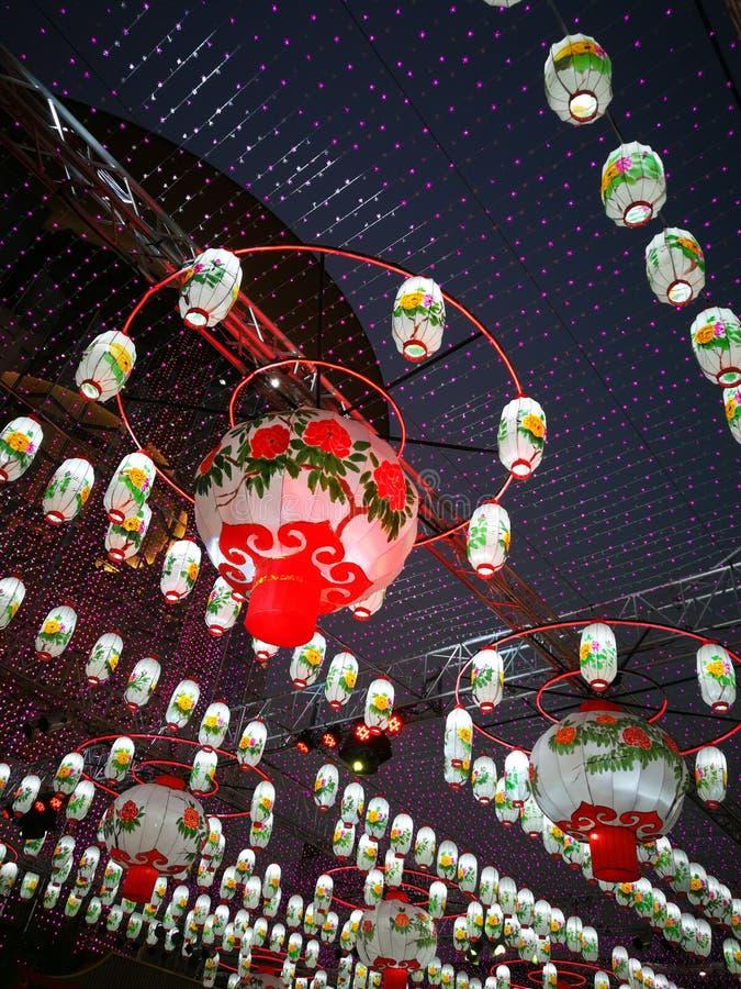 Κινεζικά νέα φω'τα έτους στοκ φωτογραφίες