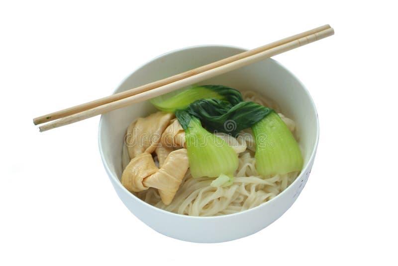 Κινεζικά νουντλς για το γεύμα στοκ εικόνα