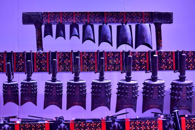 Κινεζικά παραδοσιακά αρχαία κουδούνια στοκ εικόνες