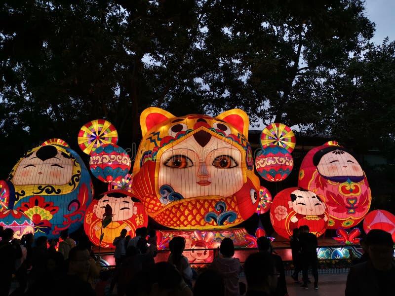κινεζικά Φανάρια έτους EW, yuexiu 2019 guangzhou στοκ εικόνες με δικαίωμα ελεύθερης χρήσης