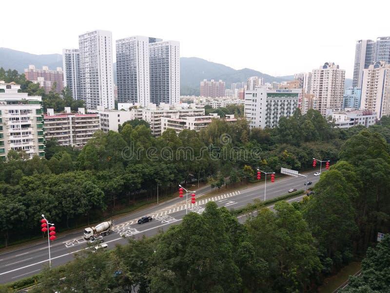 Κινεζικά φανάρια στις οδούς στοκ εικόνα με δικαίωμα ελεύθερης χρήσης