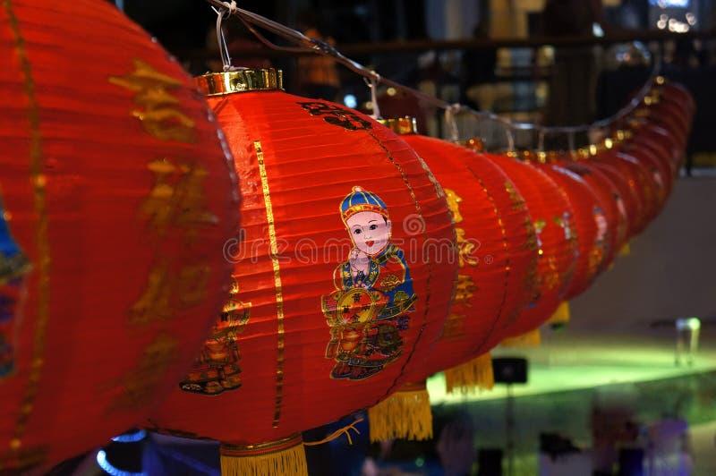 Κινεζικά φανάρια 2016 Ταϊλάνδη στοκ εικόνα
