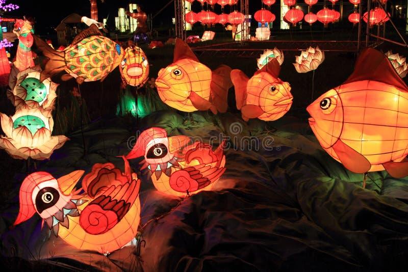 Κινεζικά φανάρια, Χογκ Κογκ στοκ εικόνες