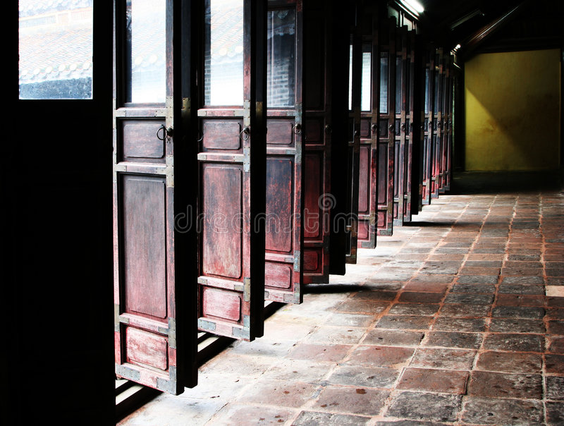 κινεζικές πόρτες στοκ φωτογραφίες