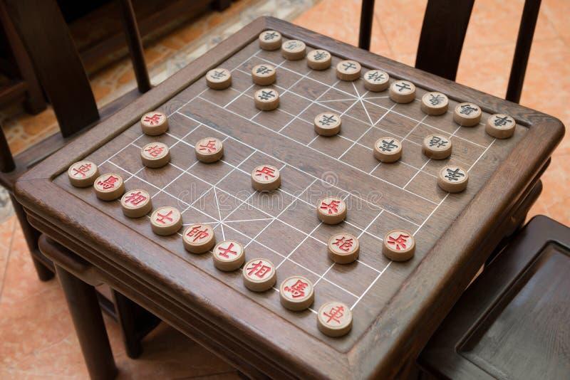 Κινεζικές σκάκι και σκακιέρα στοκ φωτογραφία