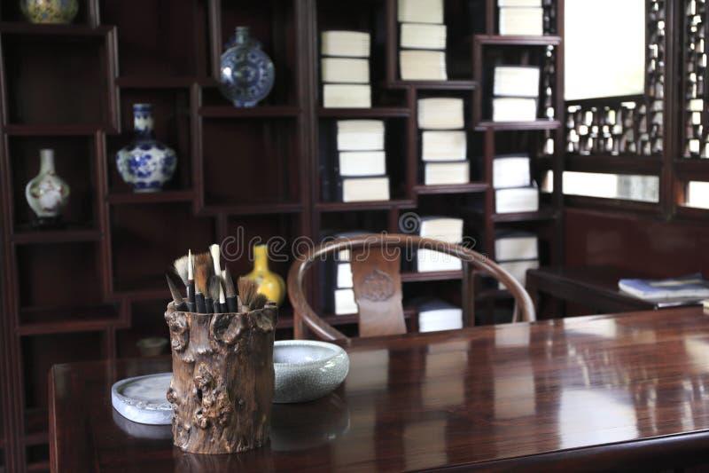 Κινεζική αρχαία μελέτη στοκ εικόνες