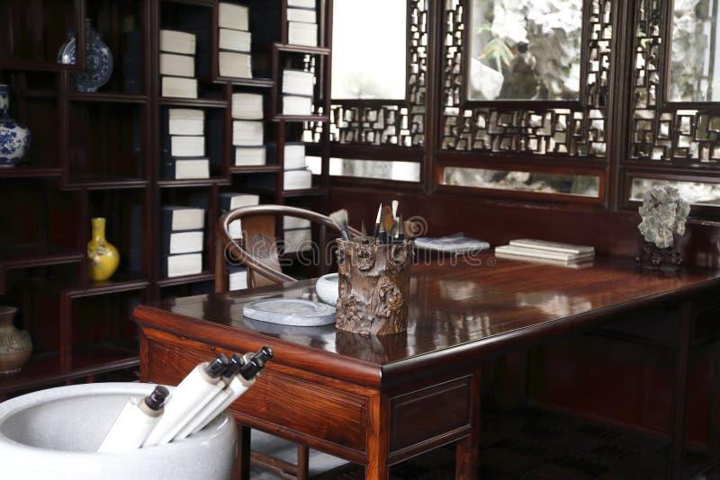 Κινεζική αρχαία μελέτη στοκ φωτογραφία με δικαίωμα ελεύθερης χρήσης