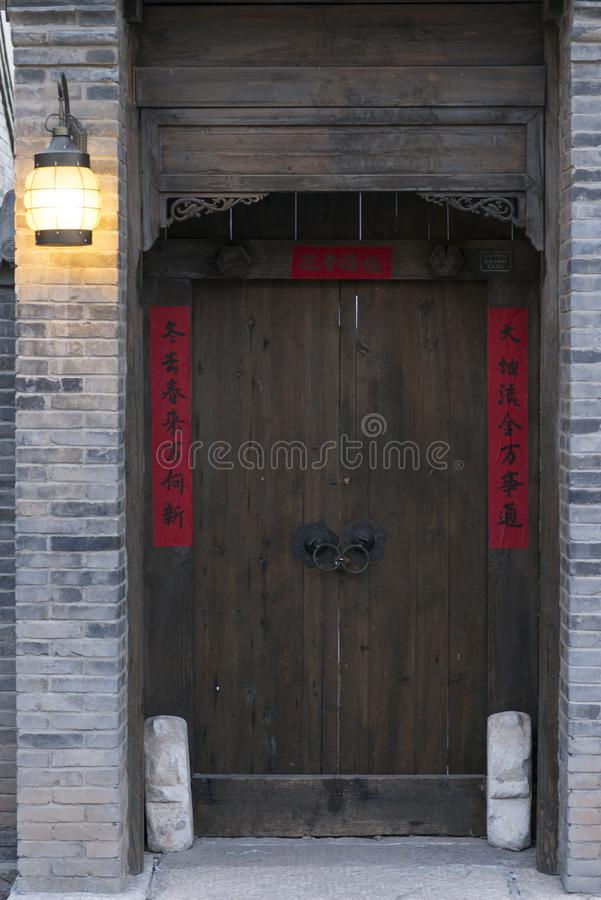 Κινεζική αρχαία πόρτα στοκ εικόνα