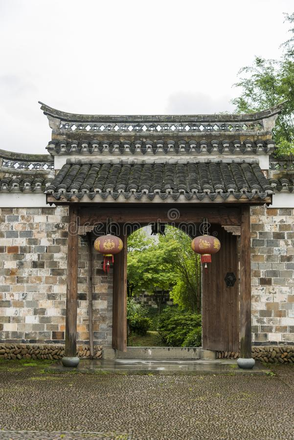 Κινεζική αρχαία πύλη στοκ εικόνες με δικαίωμα ελεύθερης χρήσης