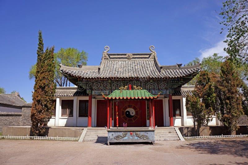 Κινεζική αρχιτεκτονική ναών Qiqihar στοκ εικόνες