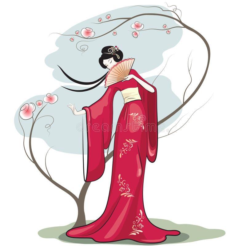 Κινεζική γυναίκα ελεύθερη απεικόνιση δικαιώματος