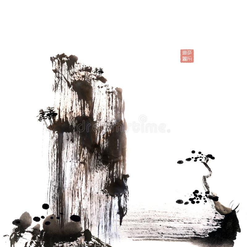 Κινεζική ζωγραφική κτυπήματος βουρτσών ελεύθερη στοκ φωτογραφίες με δικαίωμα ελεύθερης χρήσης