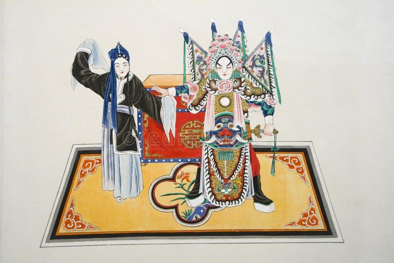 κινεζική ζωγραφική παραδ& στοκ φωτογραφία