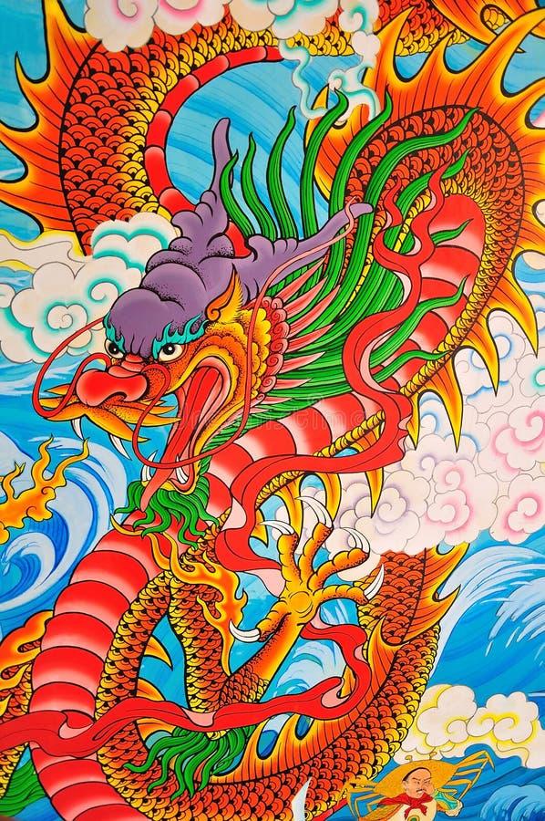Κινεζική ζωγραφική ύφους τέχνης στοκ εικόνες