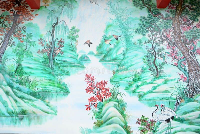 Κινεζική ζωγραφική ύφους στοκ φωτογραφίες με δικαίωμα ελεύθερης χρήσης