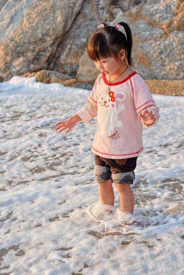 κινεζική θάλασσα παιδιών στοκ εικόνα