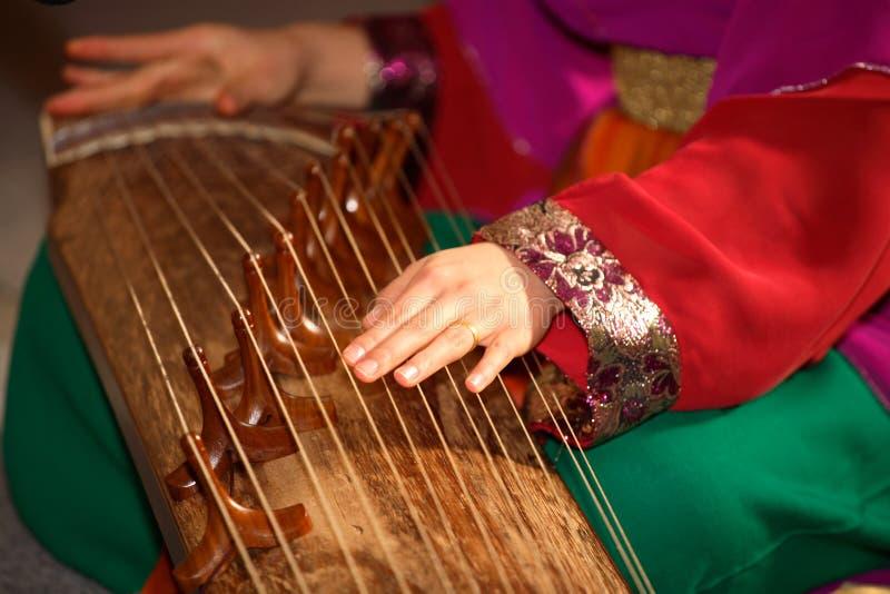 κινεζική μουσική στοκ φωτογραφία