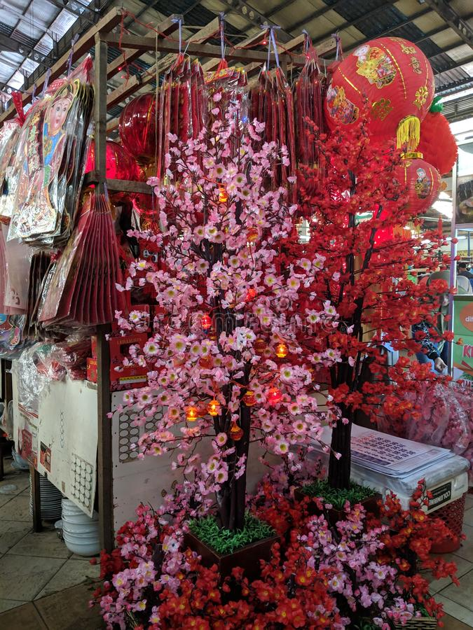 Κινεζική νέα αγορά έτους σε Tangerang στοκ εικόνες