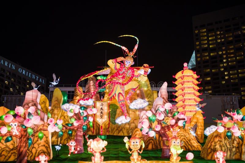 Κινεζική νέα διακόσμηση έτους στον κόλπο μαρινών στοκ φωτογραφία με δικαίωμα ελεύθερης χρήσης