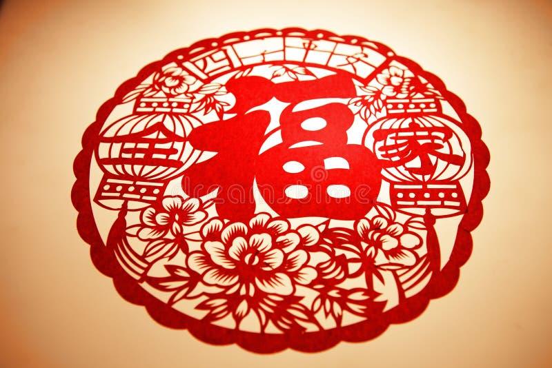 Κινεζική νέα κοπή εγγράφου έτους στοκ εικόνες