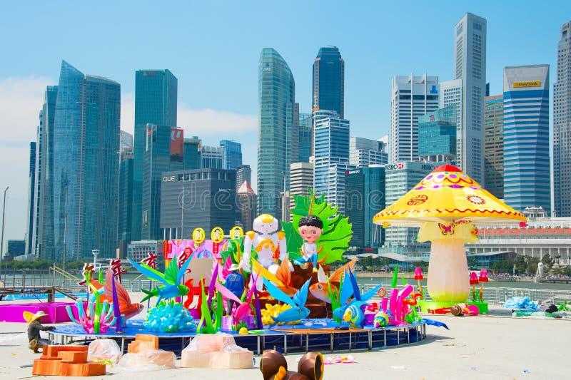 Κινεζική νέα προετοιμασία έτους Σιγκαπούρη στοκ εικόνες