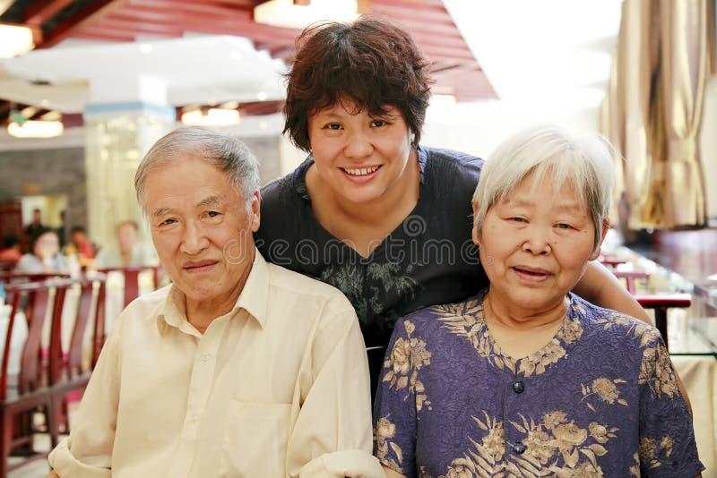 κινεζική οικογένεια στοκ εικόνα με δικαίωμα ελεύθερης χρήσης