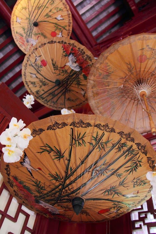 Κινεζική ομπρέλα στοκ εικόνα