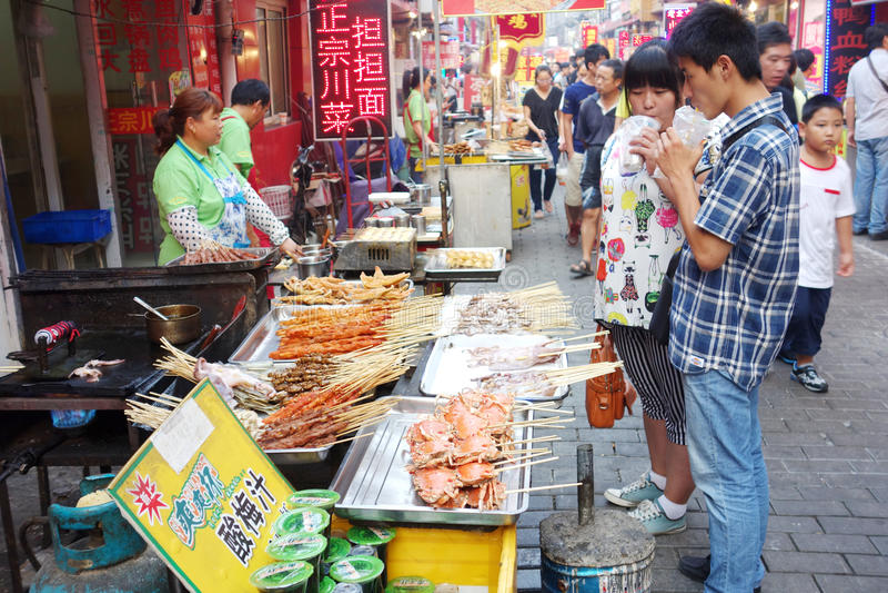 Κινεζική οδός τροφίμων στοκ φωτογραφίες με δικαίωμα ελεύθερης χρήσης