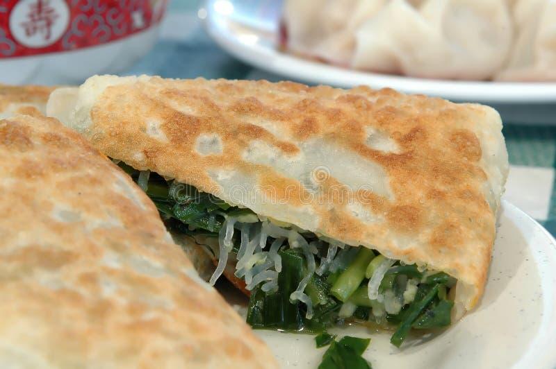 κινεζική πίτα πράσων στοκ φωτογραφίες με δικαίωμα ελεύθερης χρήσης