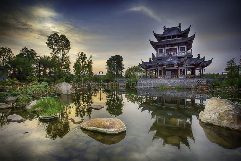 κινεζική παγόδα στοκ εικόνες