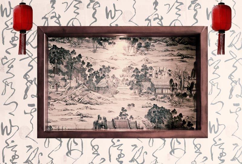 κινεζική παλαιά ζωγραφική στοκ φωτογραφία με δικαίωμα ελεύθερης χρήσης