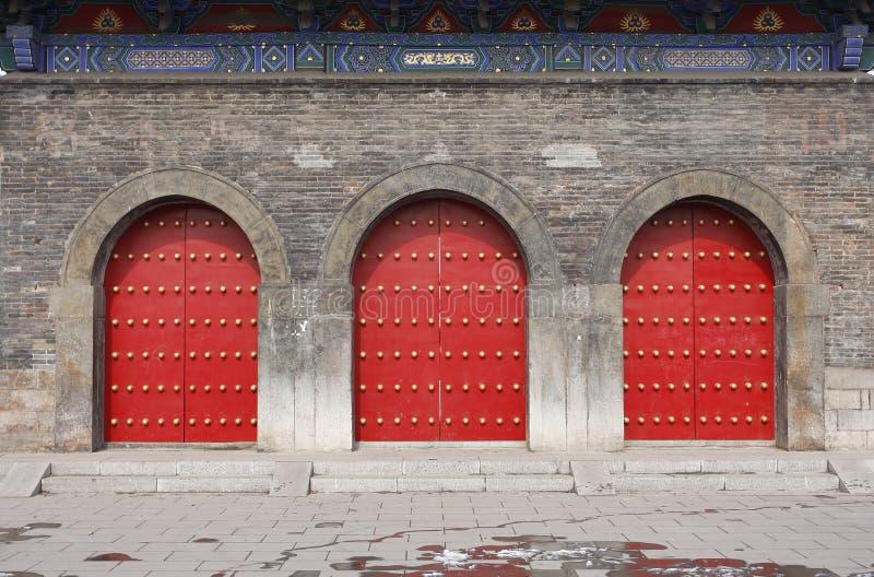 κινεζική πόρτα παραδοσια& στοκ φωτογραφίες