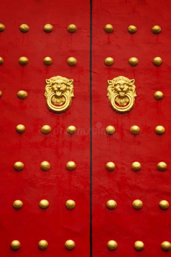 Κινεζική πόρτα στοκ εικόνα