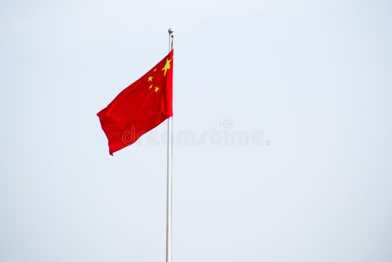 κινεζική σημαία εθνική στοκ φωτογραφία