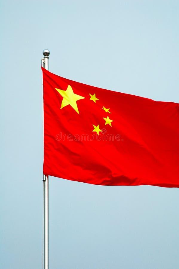 κινεζική σημαία εθνική στοκ εικόνες