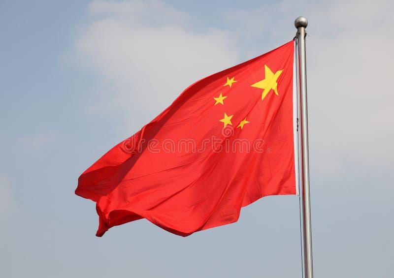 κινεζική σημαία στοκ φωτογραφία