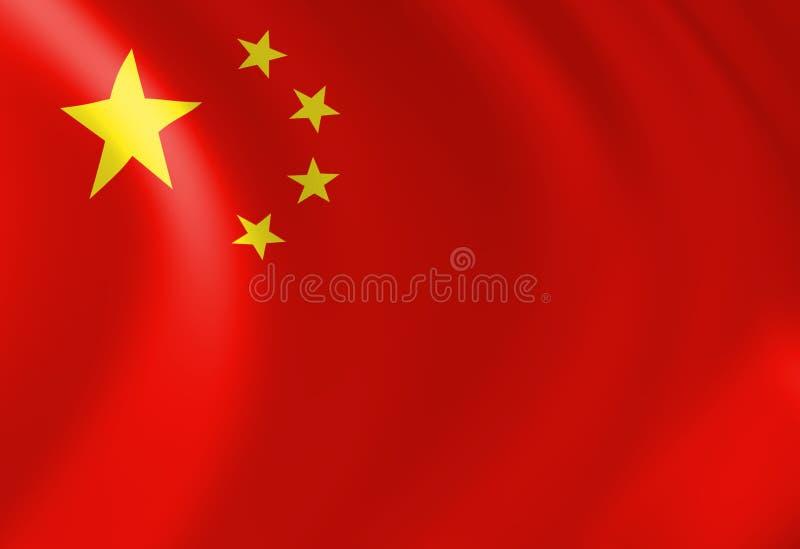 Κινεζική σημαία ελεύθερη απεικόνιση δικαιώματος