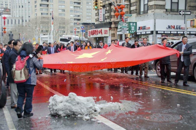 κινεζική σημαία στοκ φωτογραφίες
