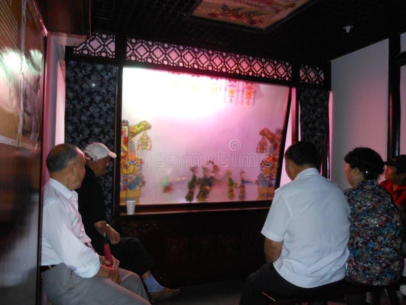 κινεζική σκιά παιχνιδιού στοκ εικόνες