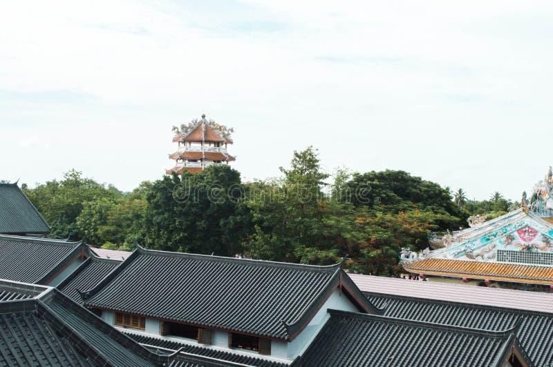 Κινεζική στέγη στην Ταϊλάνδη στοκ φωτογραφία με δικαίωμα ελεύθερης χρήσης