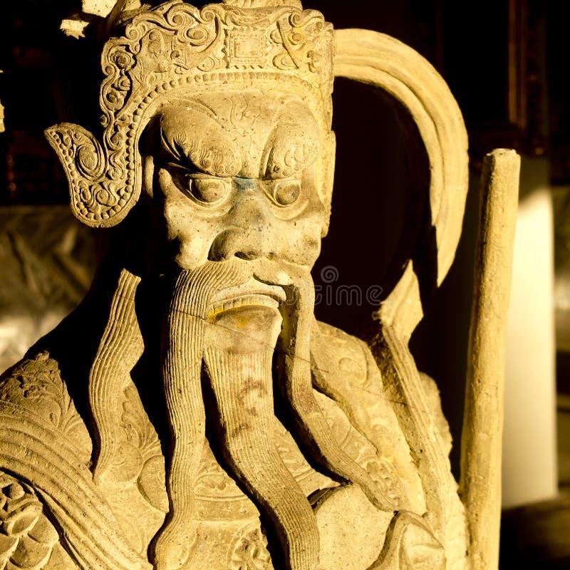 Κινεζική φρουρά αγαλμάτων στο βασιλικό παλάτι Bagkok στοκ φωτογραφία