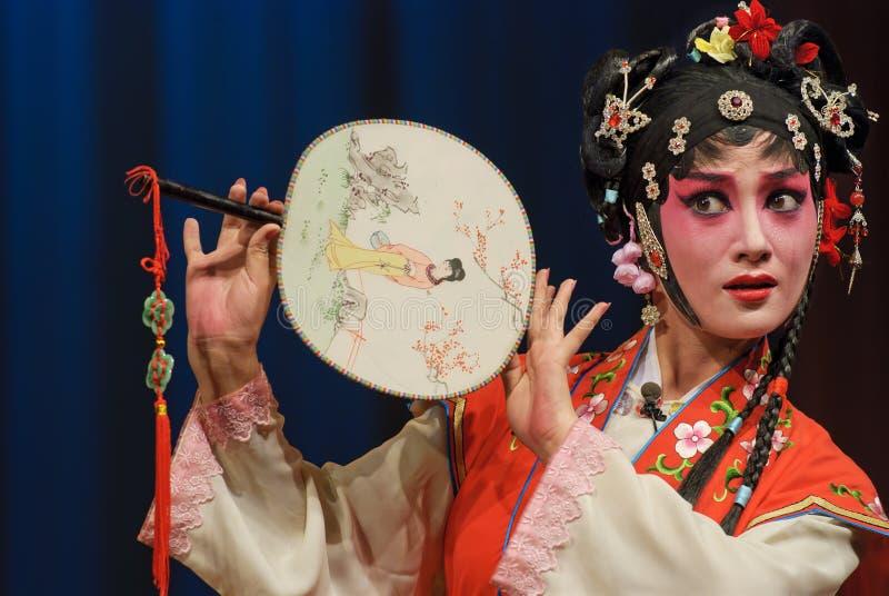 κινεζική όπερα ηθοποιών όμ&omic στοκ εικόνα