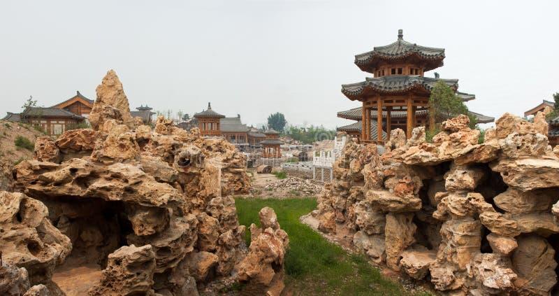 κινεζικοί κλασσικοί κήπ&o στοκ εικόνα με δικαίωμα ελεύθερης χρήσης