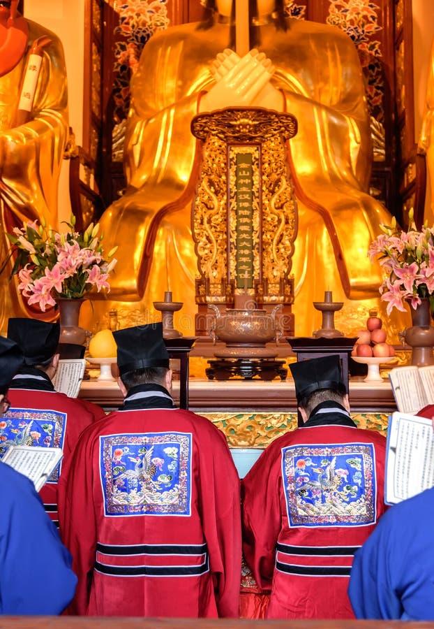 κινεζικοί μοναχοί στοκ εικόνες με δικαίωμα ελεύθερης χρήσης