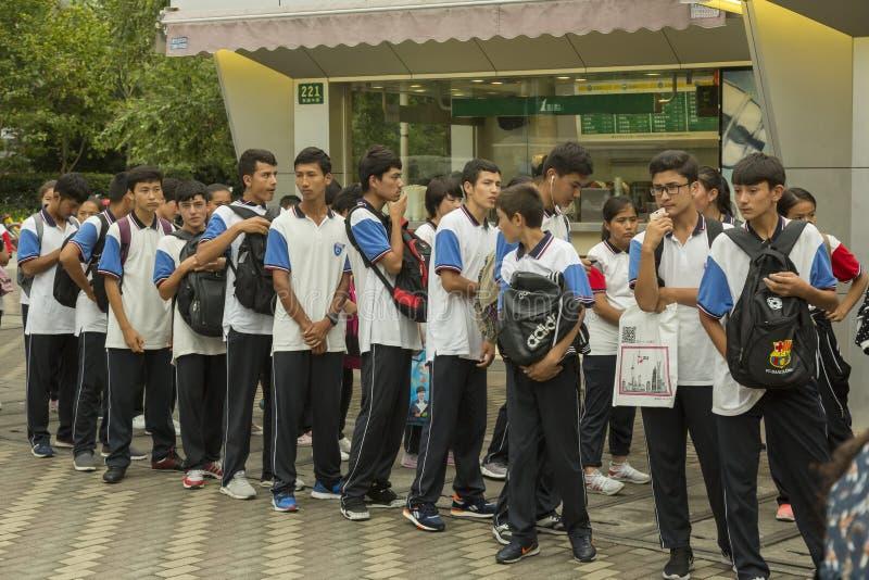 κινεζικοί σπουδαστές στοκ φωτογραφία