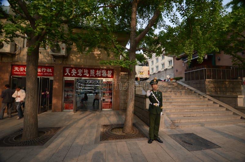 Κινεζικός αστυνομικός στο Πεκίνο στοκ εικόνα με δικαίωμα ελεύθερης χρήσης